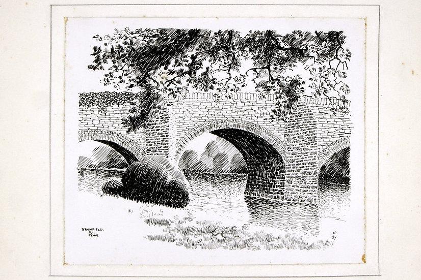 Stone Bridge on the River Teme