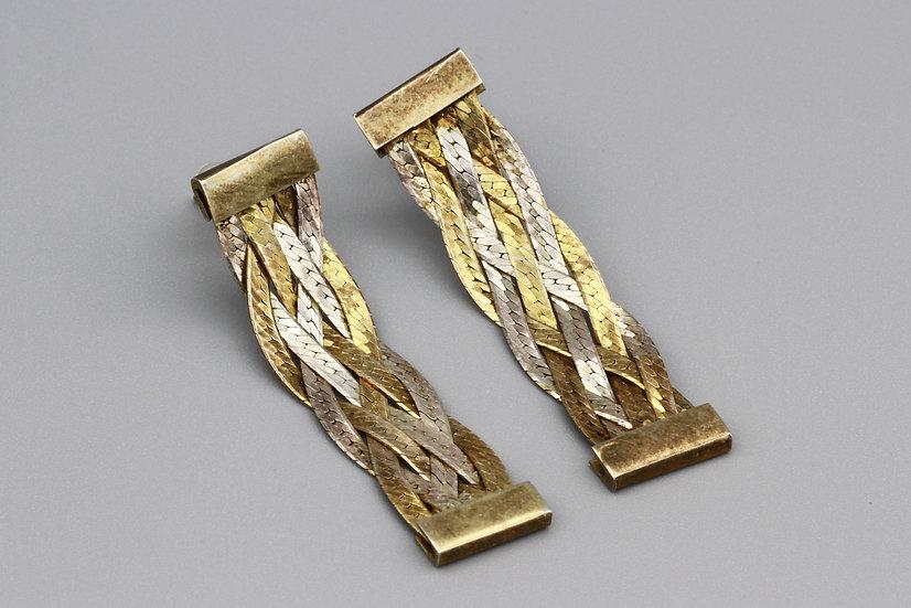 Long Herringbone Earrings