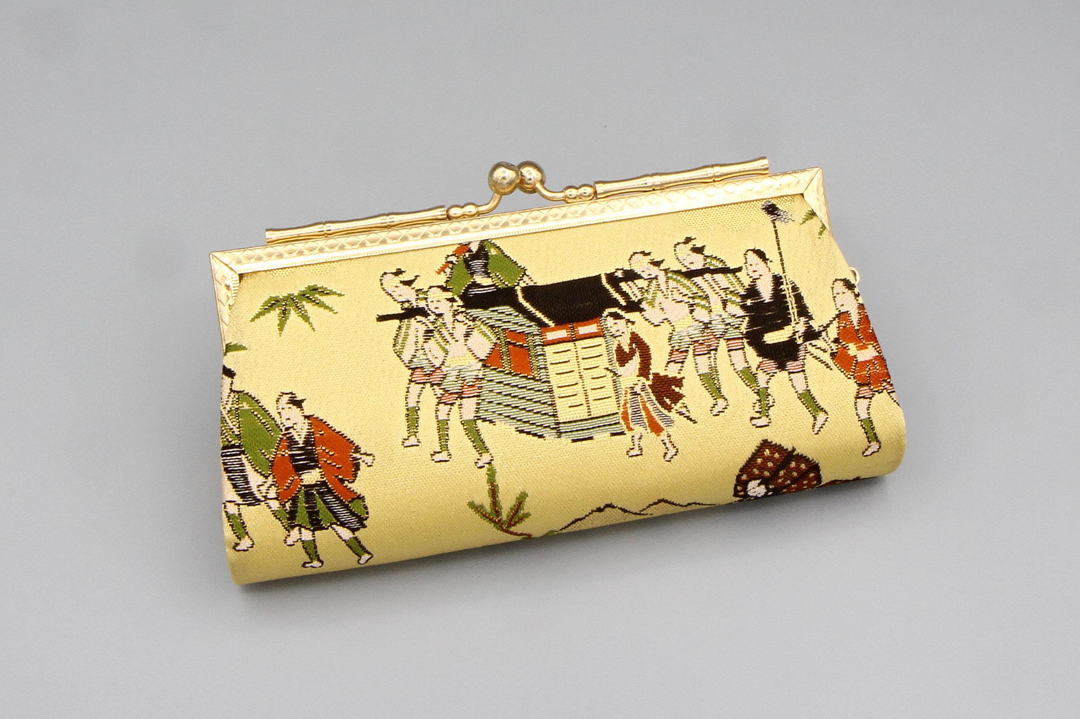 silk coin purse Asian
