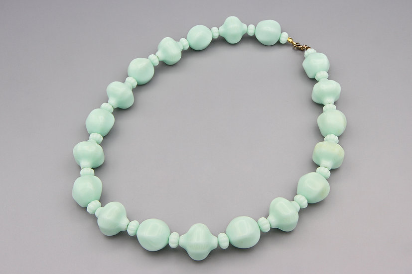 Pale Green Lucite Necklace
