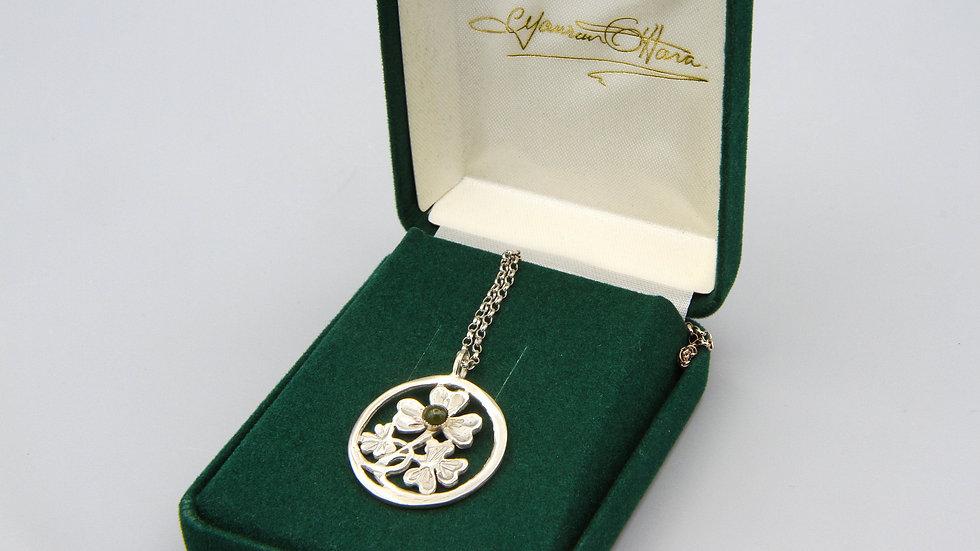 Vintage Maureen O'Hara Shamrock Pendant Necklace Made in Ireland