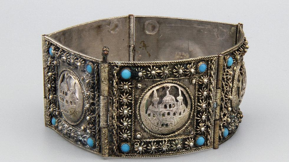 900 Silver Panel Link Bracelet