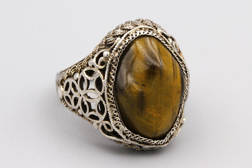 chinese export sterling ring