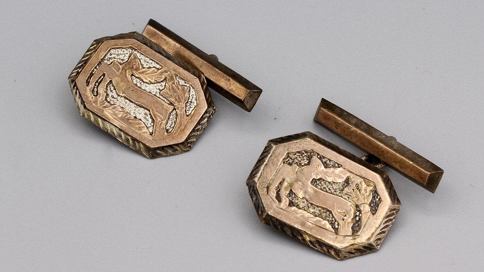 heraldic deer cufflinks