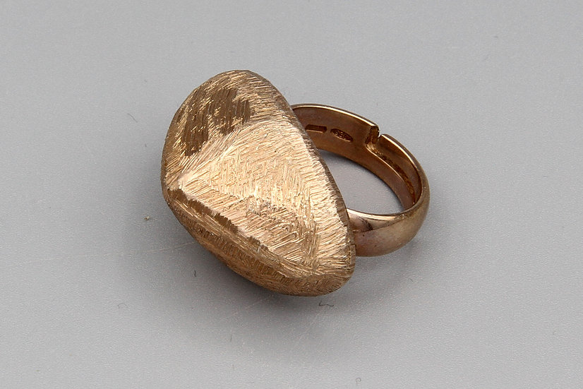 Dijous Italy Rose Gold Over Sterling Ring Size 5 Adjustable
