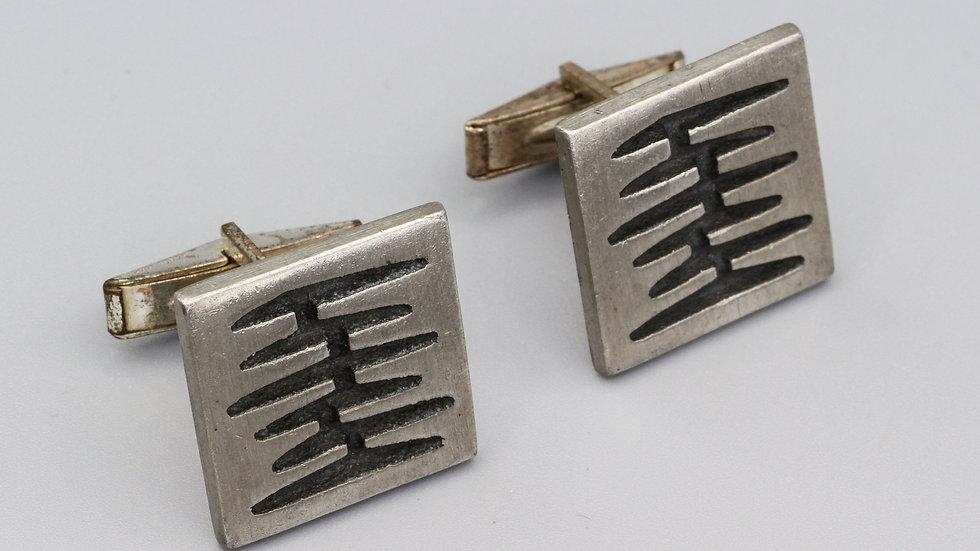 scandinavian brutalist cufflinks
