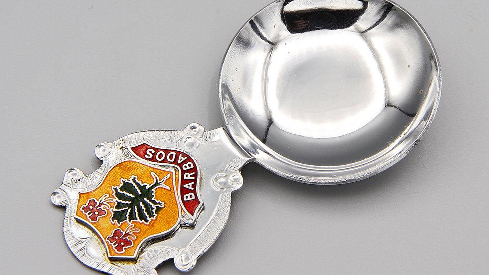 Small Barbados Island Decorative Spoon With Heraldry Crest Emblem