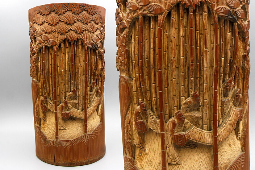 Rare Chinese Wooden Vase