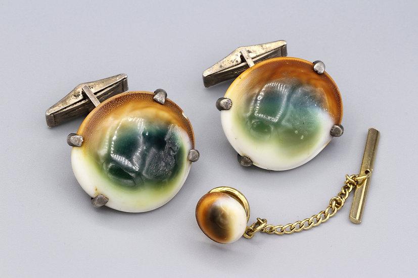 victorian operculum cufflinks