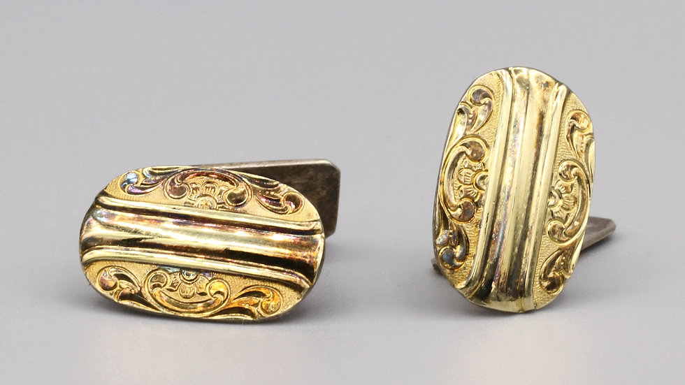 gold gilt cufflinks