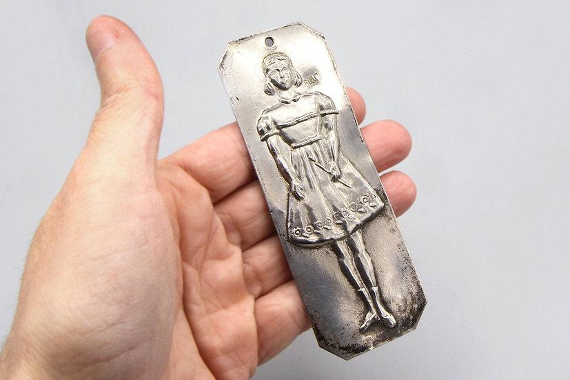 Antique 800 Silver Catholic Ex Voto