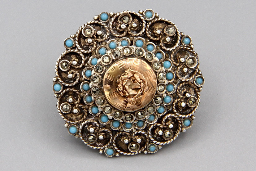 Antique Byzantine Revival Brooch Pin