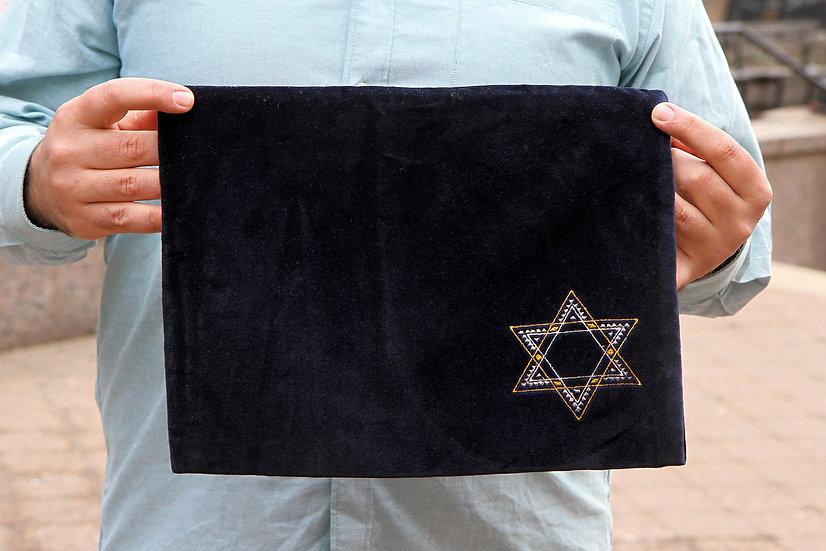 Unused Blue Velvet Tallit Bag