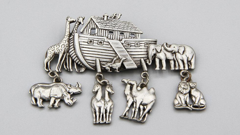 Noahs Ark Brooch Pin