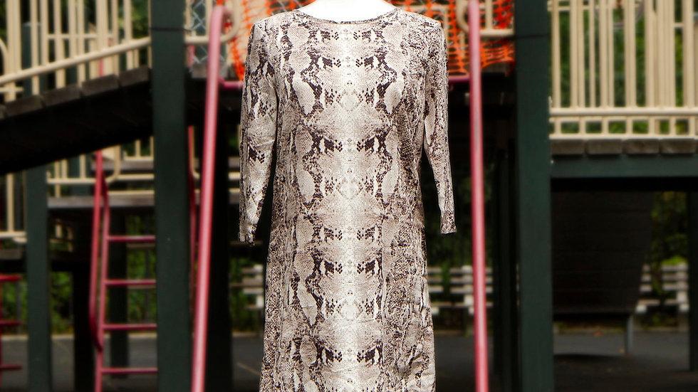 Snakeskin Chiffon Dress