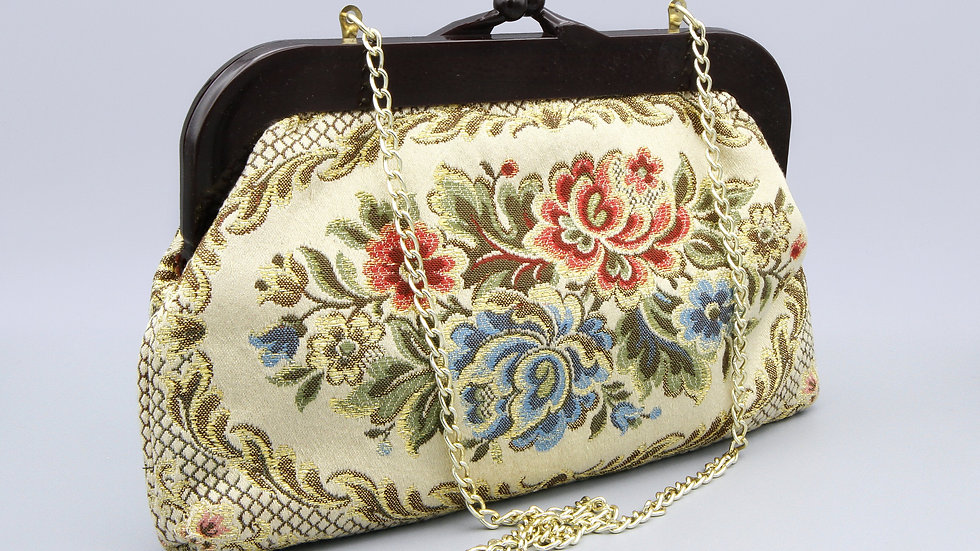floral tapestry purse