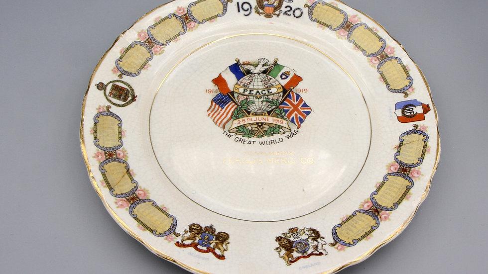 Decorative Plate Year 1920 Calendar