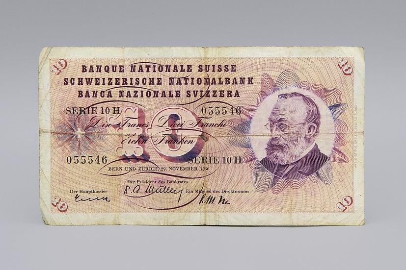 Switzerland 10 Franken Banknote