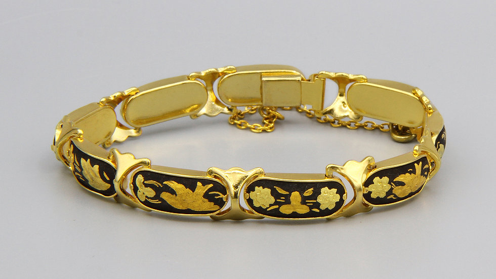 gold panel bracelet