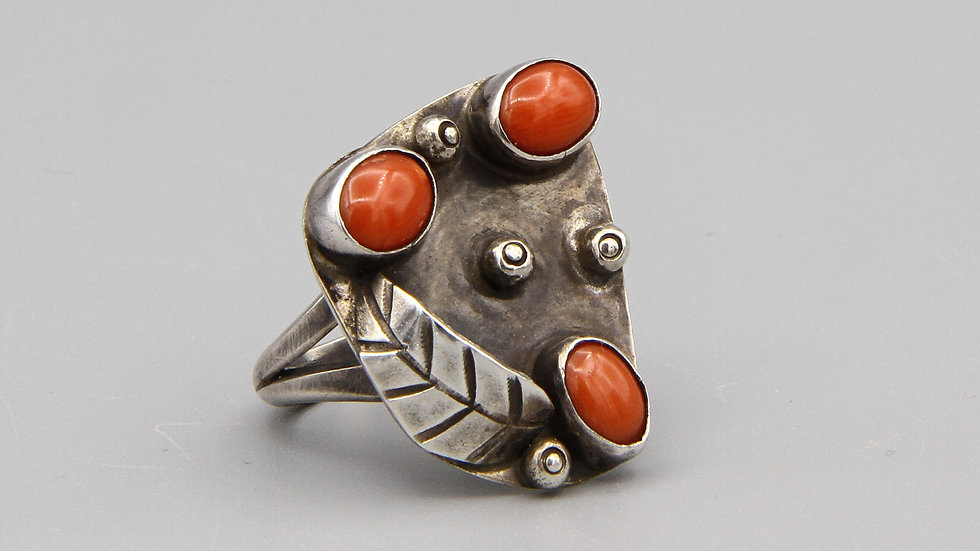 Red Coral Womens Ring Size 7