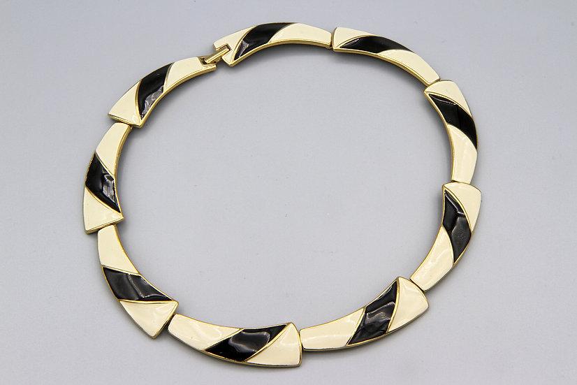 Modernist Trifari Enamel Necklace