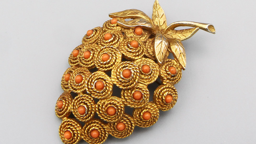 Large Strawberry brooch