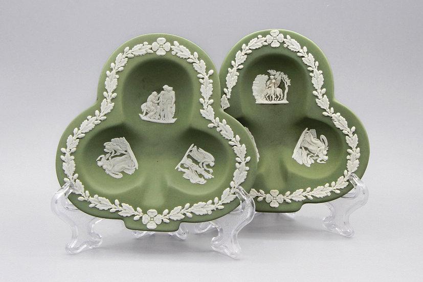 Green Jasperware Plates
