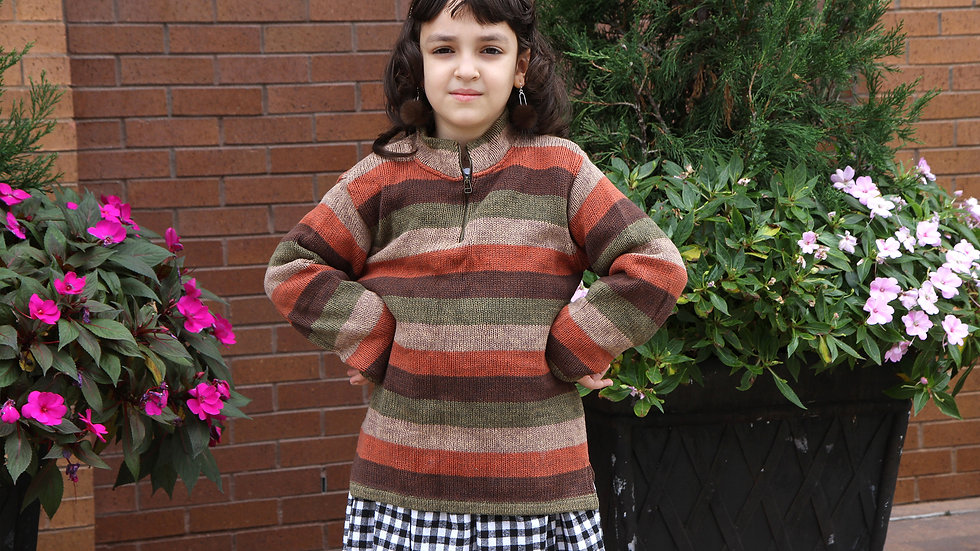 Autumn Colors Striped Sweater