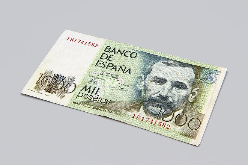 Banco De España 1000 Pesetas Banknote Cash