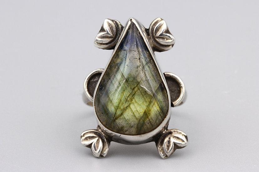 labradorite sterling ring