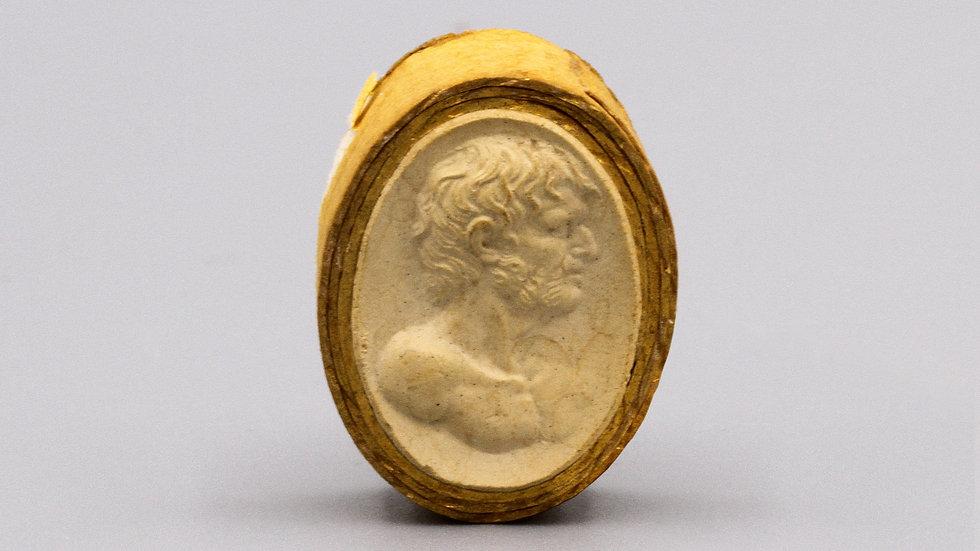 antique plaster cameo
