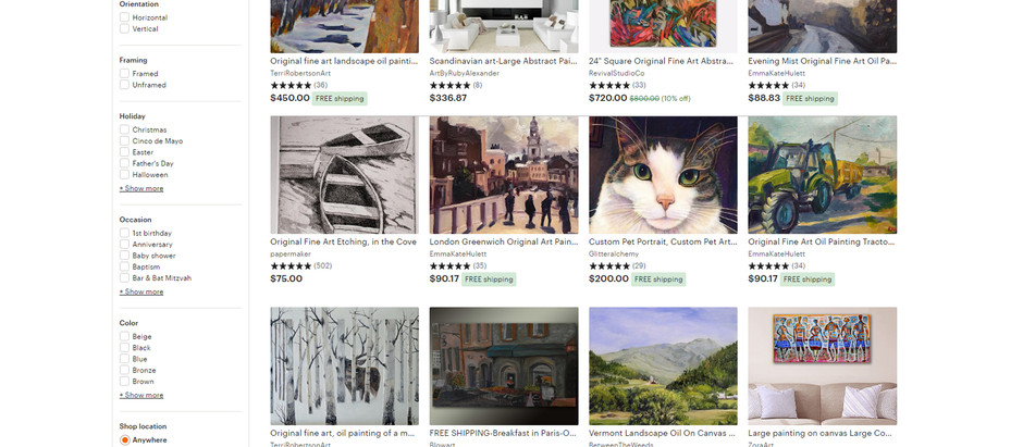 Is Etsy too saturated market with no buyers for Fine Art?
