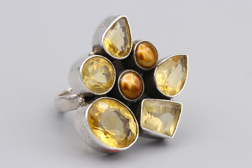Multi Stone Cluster Ring Size 7