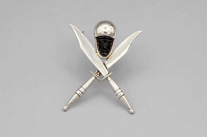 H Santana Brooch Pin With Sterling Hallmarks