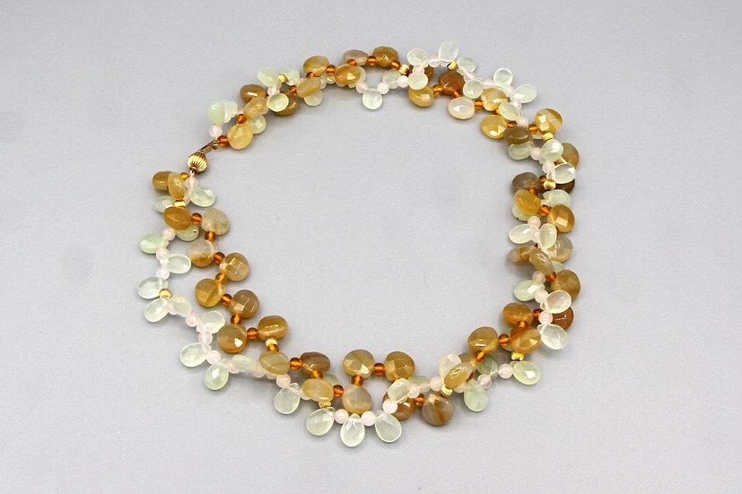 Multi Stone Bridal Necklace