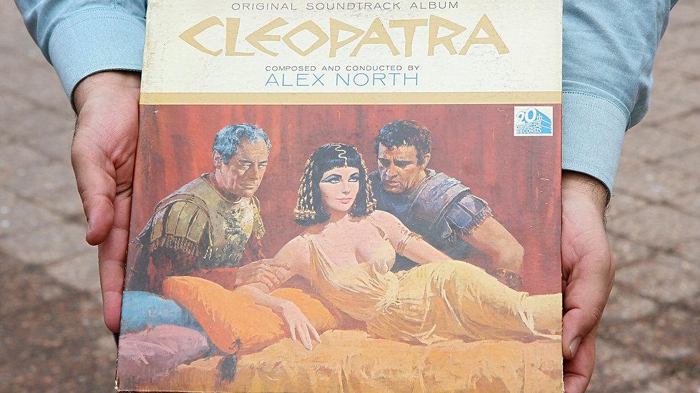 Original 1963 Cleopatra Movie Soundtrack Vinyl LP Record by Alex North