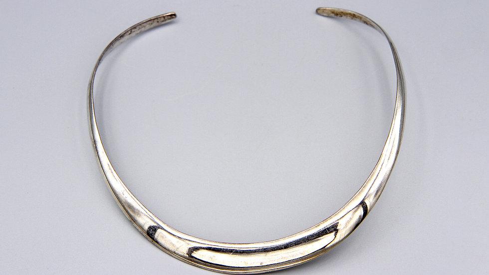 Modernist Sterling Choker Collar