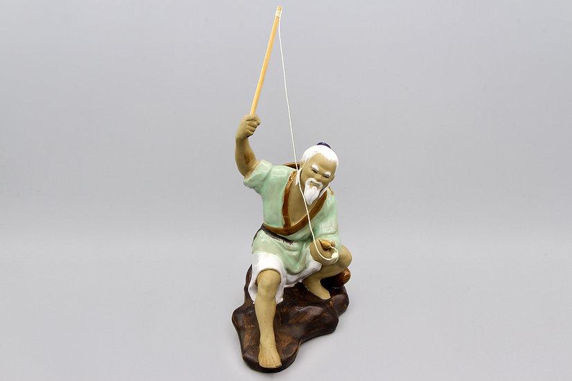 Vintage Large Shiwan Ceramic Fisherman Mudmen Chinese Export Art