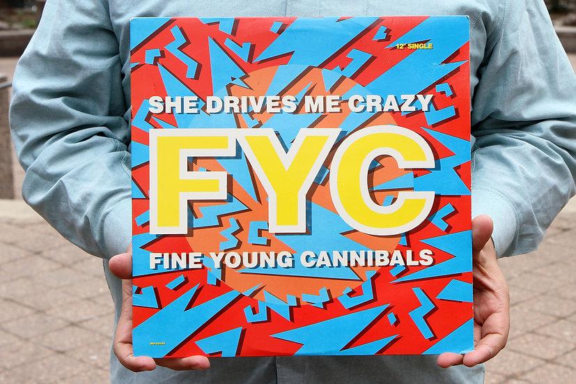 Vintage Maxi Single Vinyl 1988 She Drives Me Crazy FYC Fine Young Cannibals
