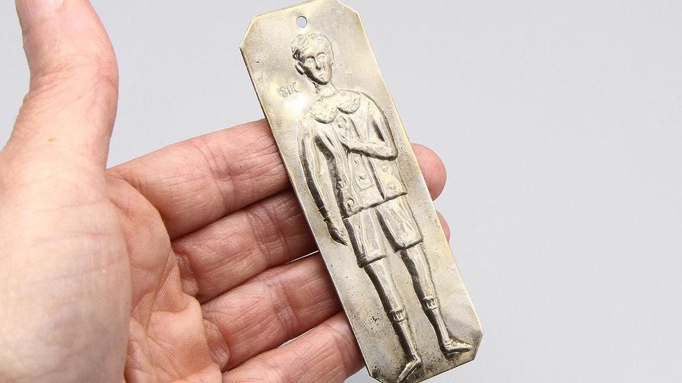 Ex Voto Young Boy Man Votive Offering 800 Silver Milagros Charm