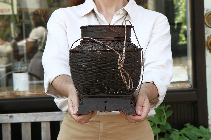 Bamboo And Wood Basket