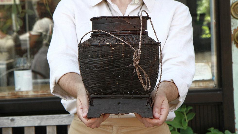 Bamboo And Wood Basket