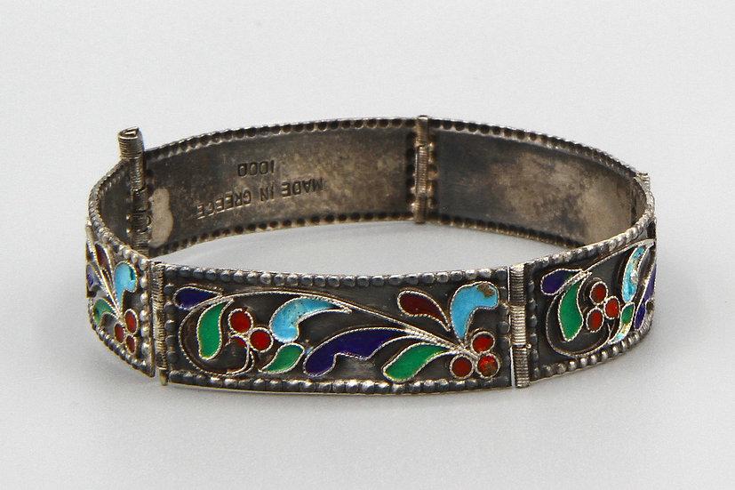 vintage colorful panel bracelet