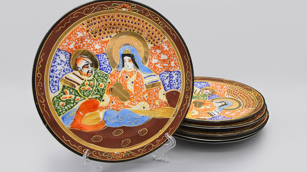 Hand Painted Takito Japan Dishes
