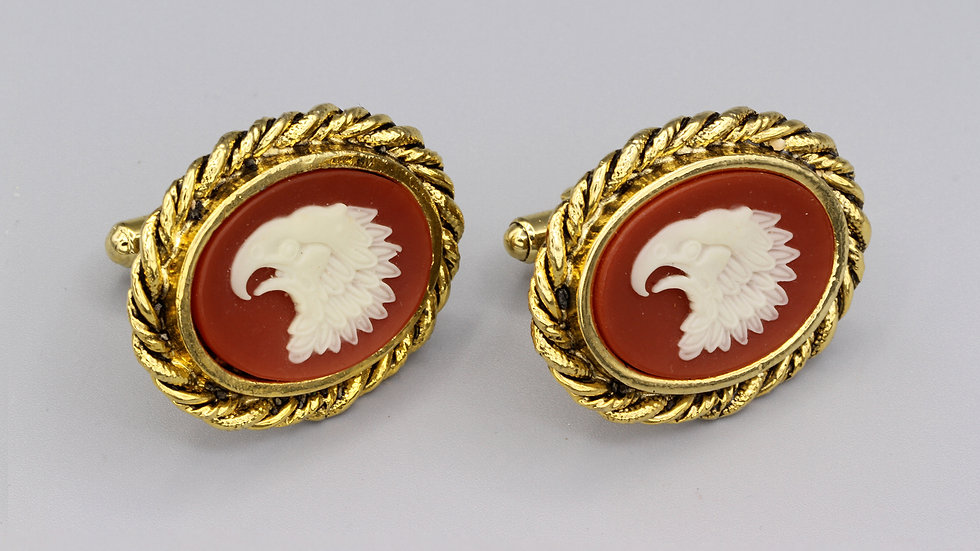 Cufflinks with Imperial Eagle