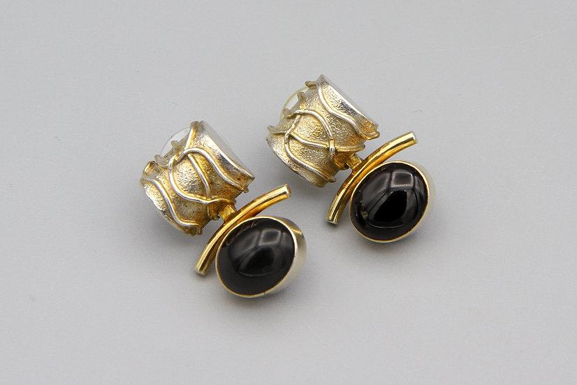 retro brutalist pierced earrings