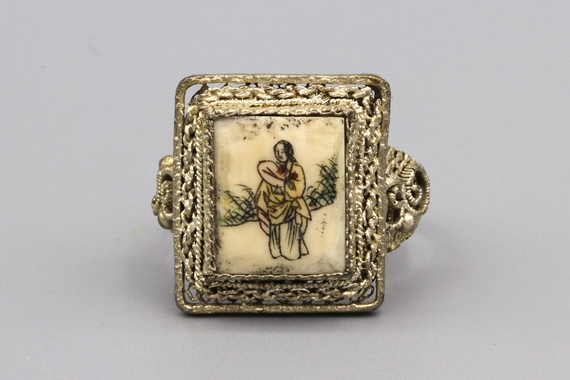 antique chinese export ring