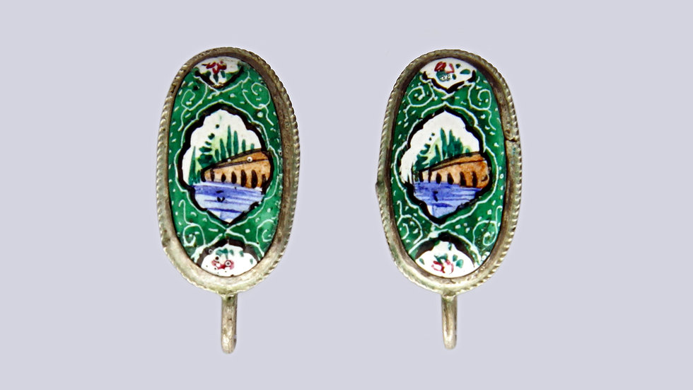 Persian Enameled Earrings
