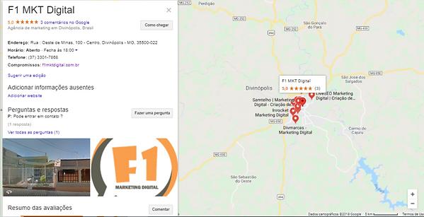 Mapa da Localização da Agência F1 MKT DIGITAL