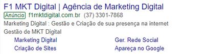 Anúncio do Google
